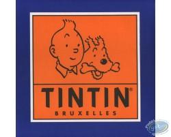 Autocollant publicitaire Tintin Bruxelles