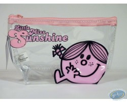 Trousse vinyle, Little Miss Sunshine (rose/transparente)