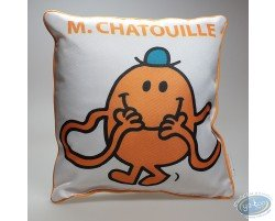 Coussin, Mr Chatouille : Blanc