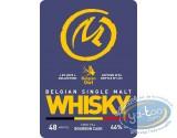 """Bouteille, Whisky Single Malt Belgian Owl """"By Jove"""", Modèle 4, Marque Jaune, Édition limitée"""