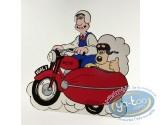 Déco, Wallace et Gromit : Pancarte déco. Wallace & Gromit side car