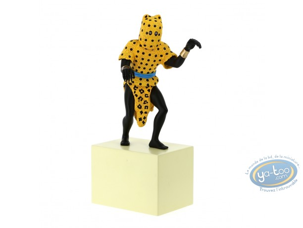 Resin Statuette, Tintin : The Leopard Man, Collection 'The Imaginary Museum of Tintin'