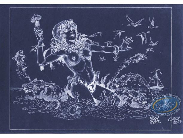Offset Print, Luc Orient : Laura Sea (negative)
