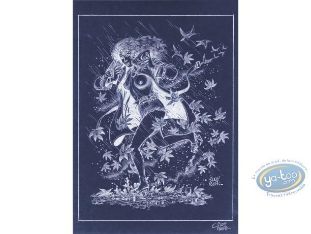 Offset Print, Luc Orient : Laura Rain (negative)