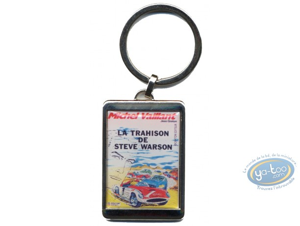 Keyring, Michel Vaillant : Silvered key ring : 'La trahison de Steve Warson'