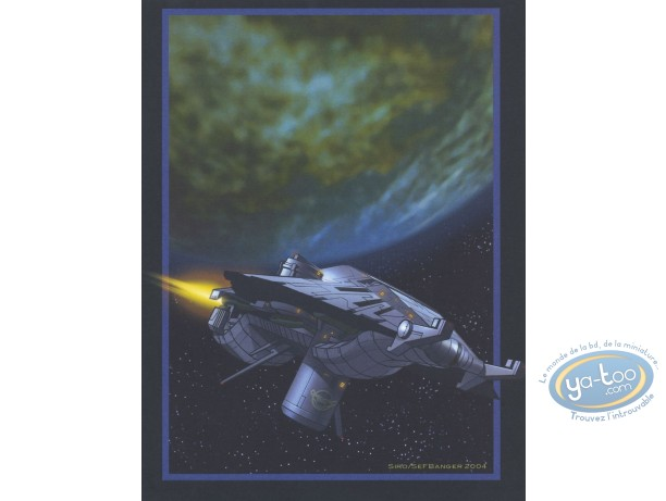 Bookplate Offset, Aquablue : Spaceship