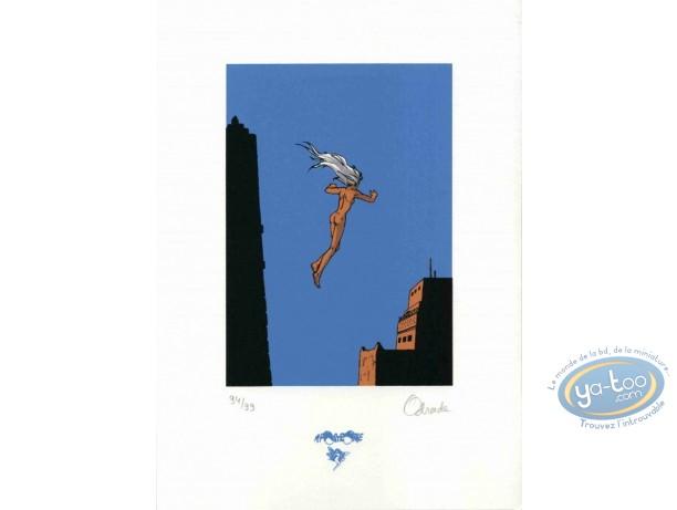 Bookplate Serigraph, Ishum : Jump