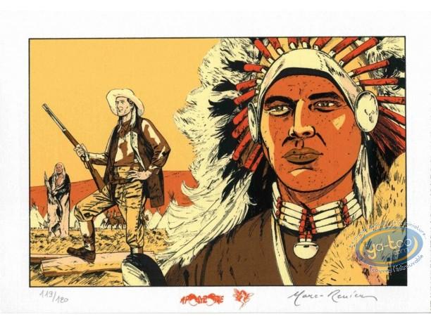 Bookplate Serigraph, Black Hills : Indian Chief