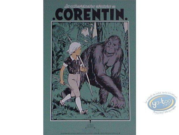 Serigraph Print, Corentin : Corentin & the Gorilla