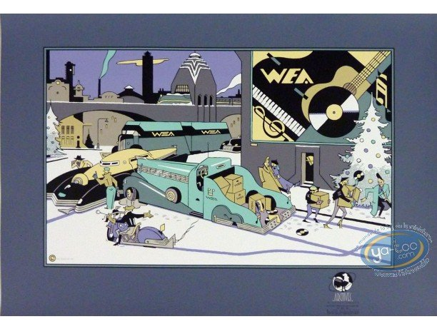 Serigraph Print, Wea (blue)