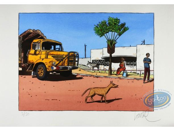 Stencil, Loustal, Camion transportant du bois