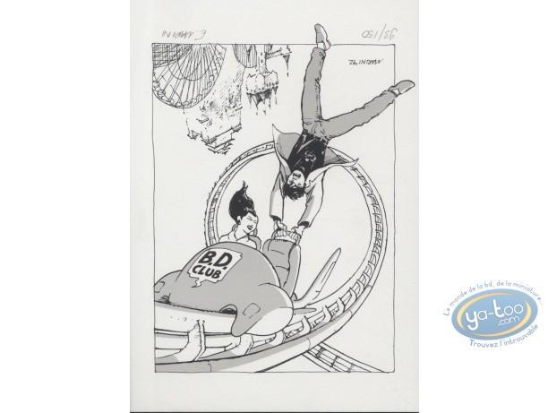 Bookplate Serigraph, Olivier Varèse : Danger