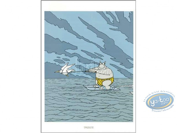 Offset Print, Cat (Le) : Water-skiing
