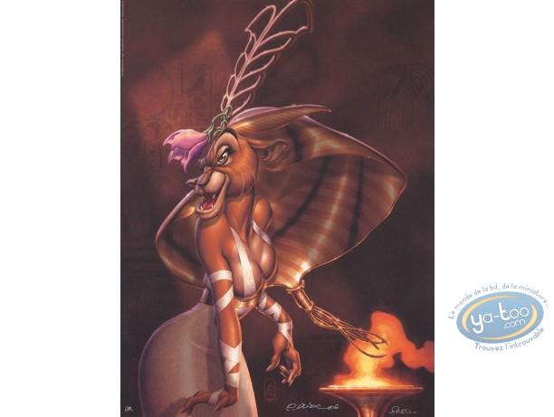 Offset Print, Ishanti : Lion woman