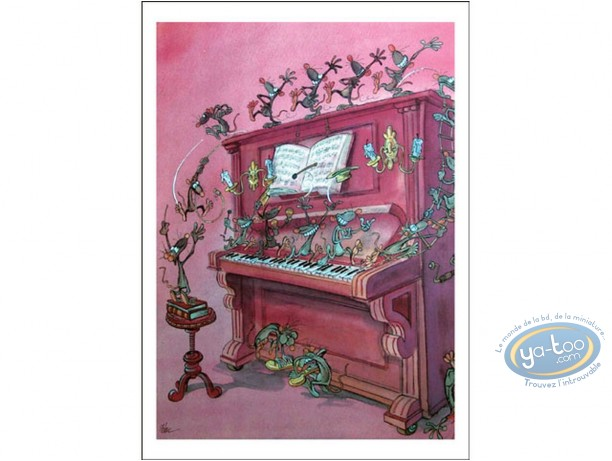Offset Print, Pacush Blues - Les rats : The Piano