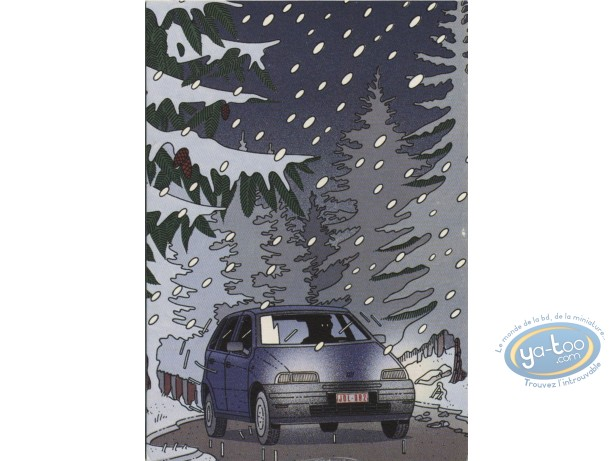 Post Card, Advertising cards, Fiat Punto by Goffin