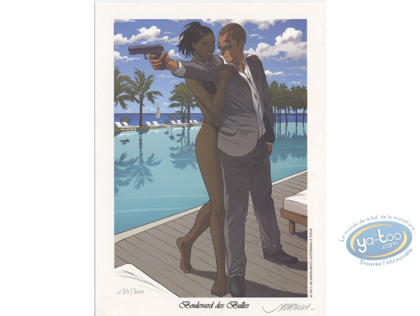Bookplate Offset, Tueur (Le) : the swimming-pool