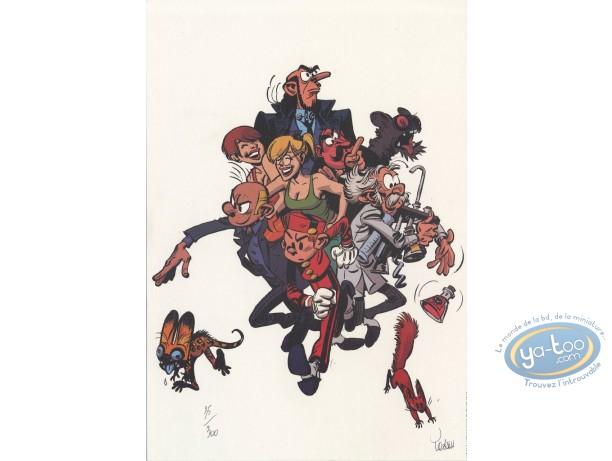 Bookplate Offset, Spirou and Fantasio : the Zorkons