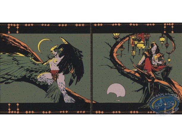 Bookplate Serigraph, Lord Twilight : Lord Twilight & Falcon Lady