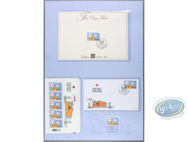 Stamp, Cat (Le) : Special Sheet Angouleme