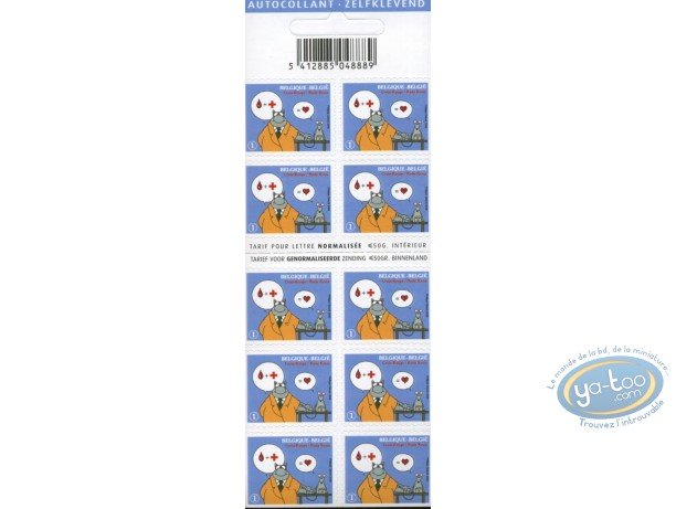 Stamp, Cat (Le) : 10 stamps sheet