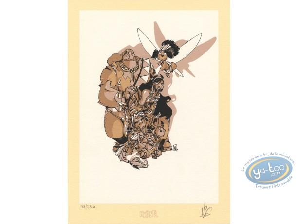 Bookplate Serigraph, Luuna : Kéramidas, Luuna & co