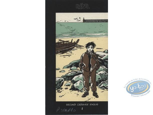 Bookplate Serigraph, Coeur en Islande (Le) : Moses on the beach