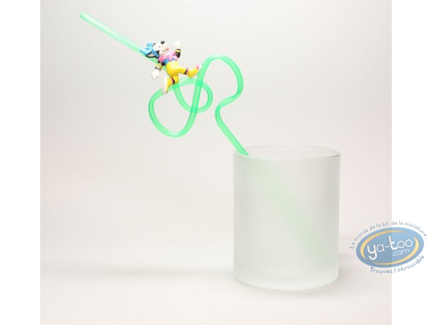 Tableware, Mickey Mouse : Straw, Running Minnie, Disney