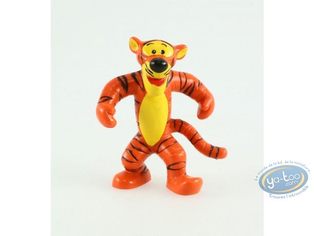 Plastic Figurine, Winnie the Pooh : Tigrou, orange lined, Disney