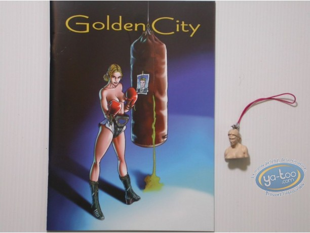 Keyring, Golden City : Amber bust