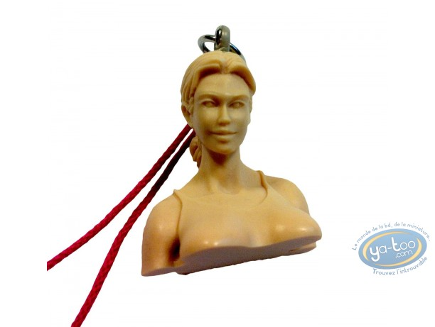 Keyring, Golden City : Amber bust (without certificate)