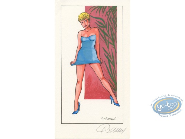Bookplate Offset, Jessica Blandy : Blue Dress