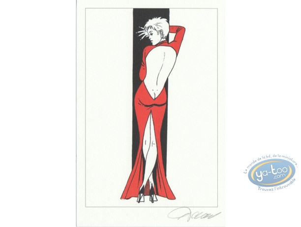 Bookplate Offset, Jessica Blandy : Red Dress (back)