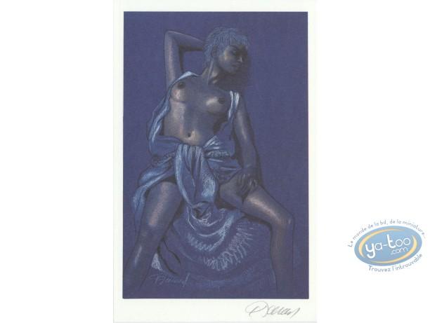 Bookplate Offset, Jessica Blandy : Half Naked (blue)