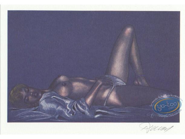 Bookplate Offset, Jessica Blandy : Solitary Pleasure (blue)