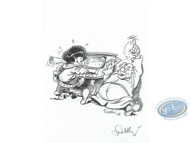 Bookplate Offset, P'tit Bout de Chique (Le) : le P'tit Bout de Chique et the piano