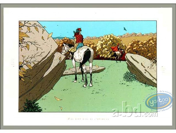 Serigraph Print, 7 Vies de l'Epervier (Les) : Les cavaliers