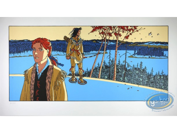 Serigraph Print, 7 Vies de l'Epervier (Les) : Iroquois Winter