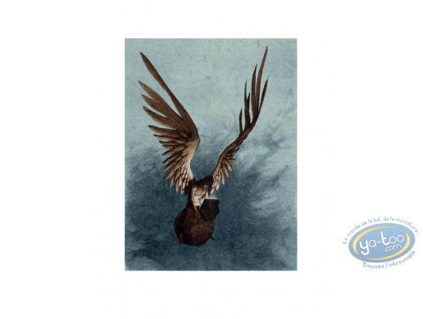 Serigraph Print, Xxème Ciel (Le) : Angel on internet