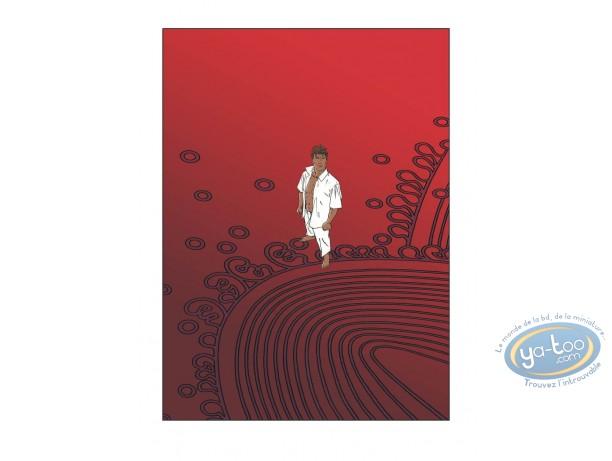 Serigraph Print, Largo Winch : Largo Winch Red Largo
