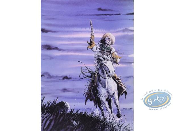 Offset Print, Piste des Ombres (La) : On Horse (purple sky)