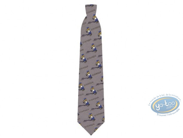 Clothes, Simpson (Les) : Simpson Homer golf grey tie