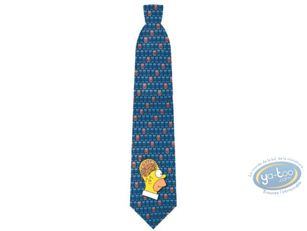 Clothes, Simpson (Les) : Simpson Homer brain blue tie