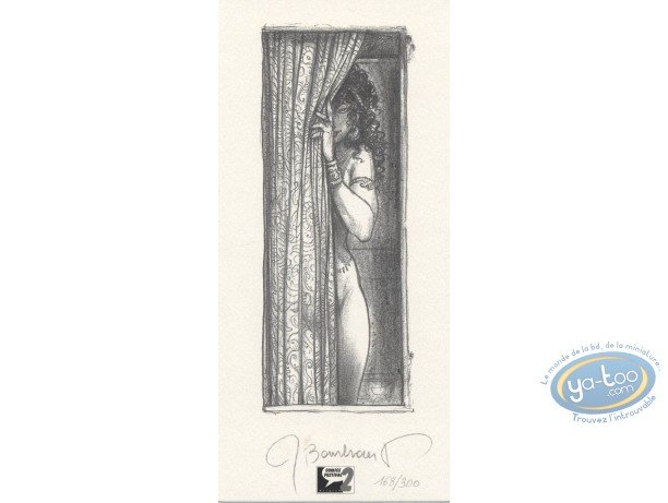 Bookplate Offset, Jaguar : Woman behind the Curtain