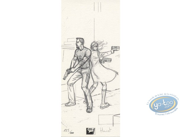 Bookplate Offset, John Doe : Back to Back (sketch)