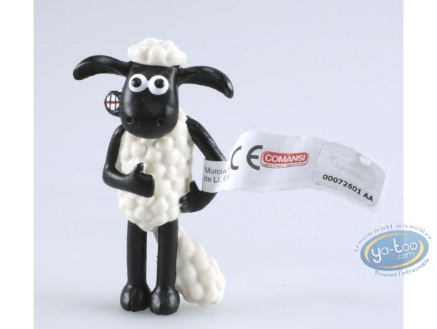 Plastic Figurine, Wallace and Gromit : Shaun has a stomach ache - Shaun the sheep
