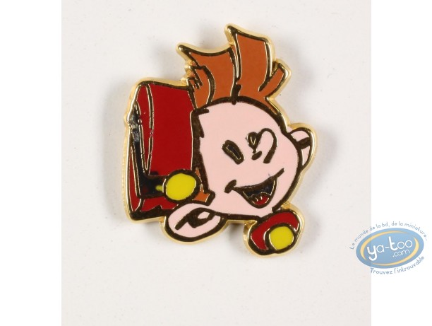 Pin's, Spirou and Fantasio : The head of Spirou , Finish Gold