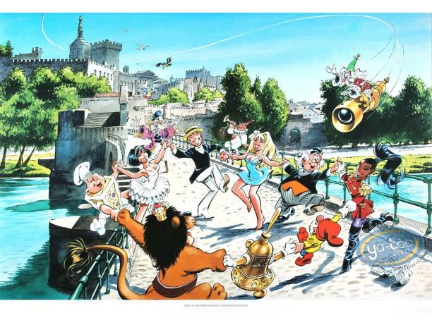 Offset Print, Olivier Rameau : Avignon Bridge