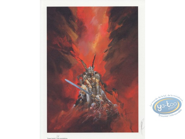Offset Print, Varanda : Warrior with a sword