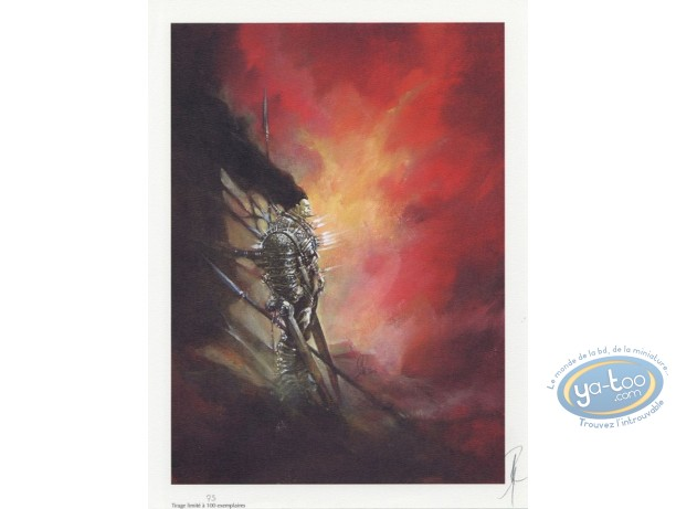 Offset Print, Varanda : Warrior with a Spear